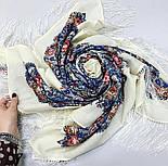 Лира 1720-4, павлопосадский платок шерстяной с шелковой бахромой, фото 5