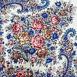 Лира 1720-4, павлопосадский платок шерстяной с шелковой бахромой, фото 3