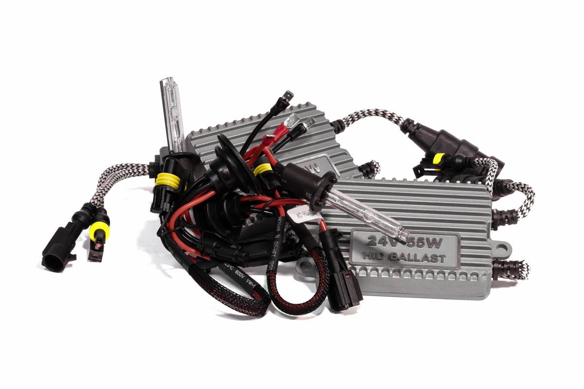 Комплект ксенона КВАНТ H1 5000К 24v с блоками AC