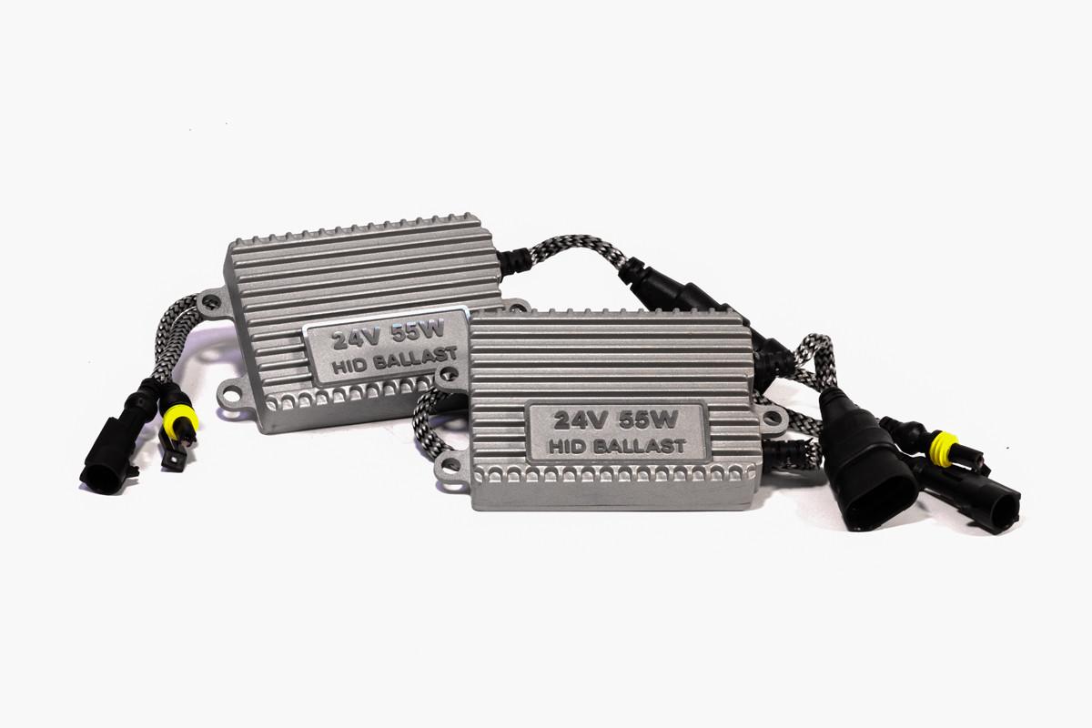 Комплект ксенона КВАНТ H27 6000К 24v с блоками AC