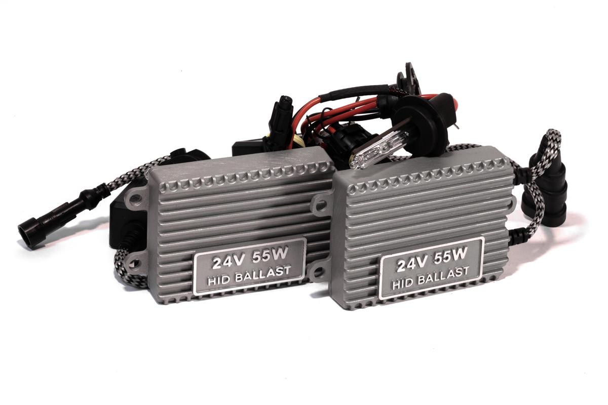 Комплект ксенона КВАНТ H7 6000К 24v с блоками AC