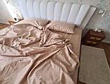 Комплект постельного  белья Страйп Сатин Шоколад, фото 7