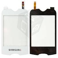 Сенсорный экран (touchscreen) для Samsung S3370, белый, оригинал