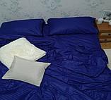 Комплект постельного  белья Страйп Сатин Фиолетовый, фото 4
