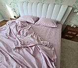 Комплект постельного  белья Страйп Сатин Фиолетовый, фото 10