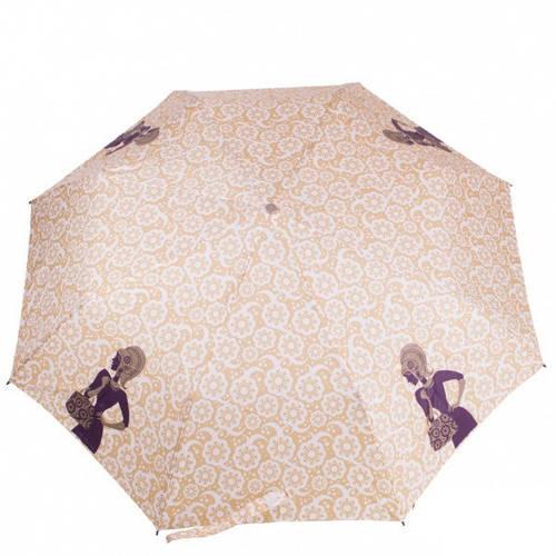 Освежающий женский зонт полуавтомат ZEST (ЗЕСТ), бежевый, Z23629-11