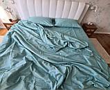 Комплект постільної білизни Страйп Сатин Чорний Смужка, фото 9