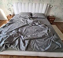 Комплект постельного  белья Страйп Сатин Серый