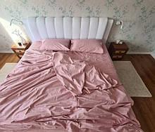 Комплект постельного  белья Страйп Сатин Пудра