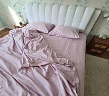 Комплект постельного  белья Страйп Сатин Сиреневый