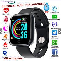 Смарт smart фітнес браслет трекер розумні годинник як Apple Smart Series Watch Y68 D20 Pro російською ПОШТУЧНО (2), фото 1