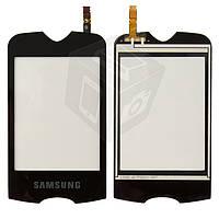Сенсорный экран (touchscreen) для Samsung S3370, черный, оригинал