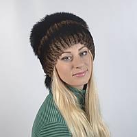Женская шапка из натурального меха - Олушка, ПЕСЕЦ (код 29-267)
