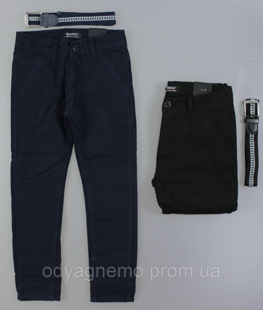 Котоновые брюки на флисе для мальчиков Seagull ,134-164 рр. Артикул: CSQ89935