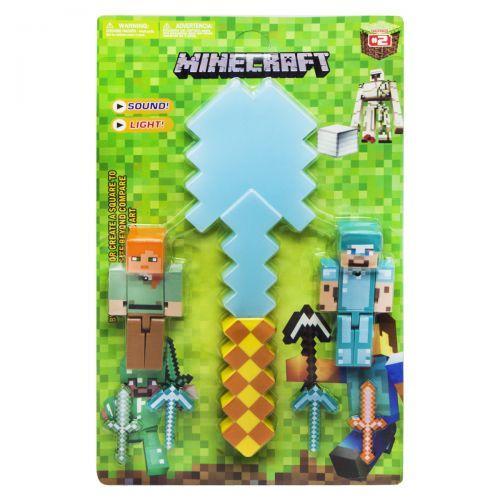 """Игровой набор с оружием """"Minecraft"""", алмазная лопата JL18334B-2"""