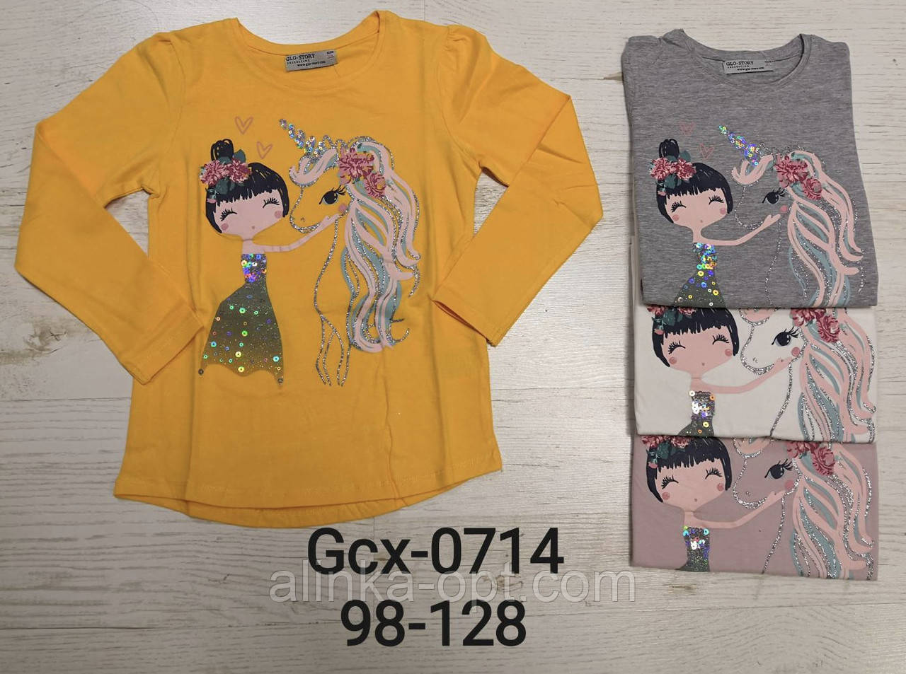 Трикотажный реглан для девочек Glo-Story, 98-128 рр. Артикул: GCX0714