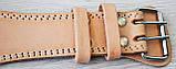 Пояс для тяжелой атлетики кожаный SportVida SV-AG0054 (L) Beige, фото 8