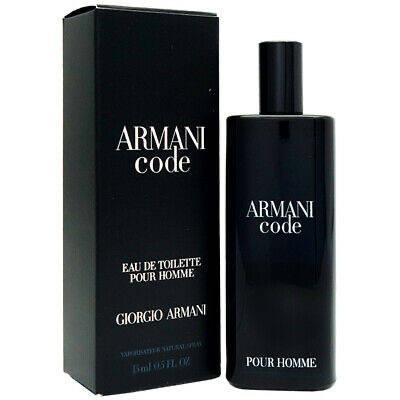 Чоловічі міні парфуми туалетна вода GIORGIO ARMANI Code Pour Homme 15ml цитрусовий пряний аромат ОРИГІНАЛ