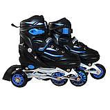 Роликовые коньки SportVida 4 в 1 SV-LG0028 Size 31-34 Black/Blue, фото 3