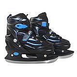 Роликовые коньки SportVida 4 в 1 SV-LG0028 Size 31-34 Black/Blue, фото 5