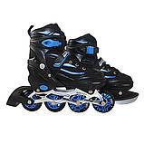 Роликовые коньки SportVida 4 в 1 SV-LG0028 Size 31-34 Black/Blue, фото 6