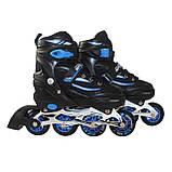 Роликовые коньки SportVida 4 в 1 SV-LG0028 Size 31-34 Black/Blue, фото 7