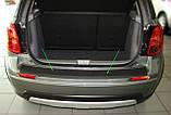 Пластикова захисна накладка заднього бампера для Suzuki SX4 2006-2014, фото 2