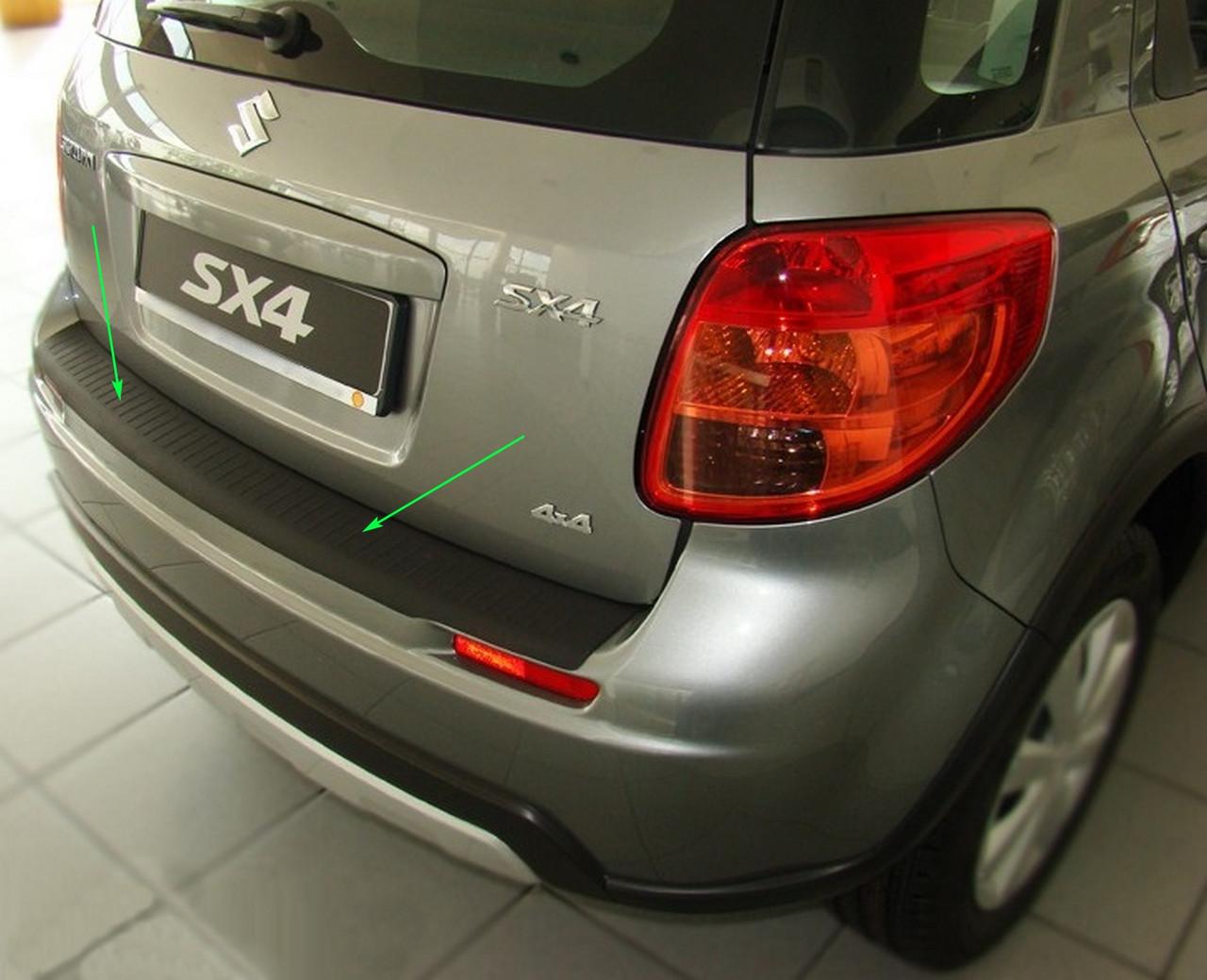 Пластикова захисна накладка заднього бампера для Suzuki SX4 2006-2013, фото 3