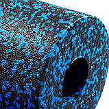 Массажный ролик (валик, роллер) гладкий 4FIZJO EPP PRO+ 33 x 14 см 4FJ1417 Black/Blue, фото 2