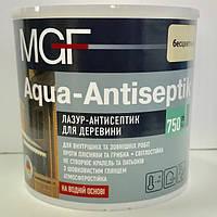 Лазур-антісептік MGF Agua-Antiseptik без кольору 0,75л (МГФ Аква-Антисептик) - лазурь-антисептик для дерева