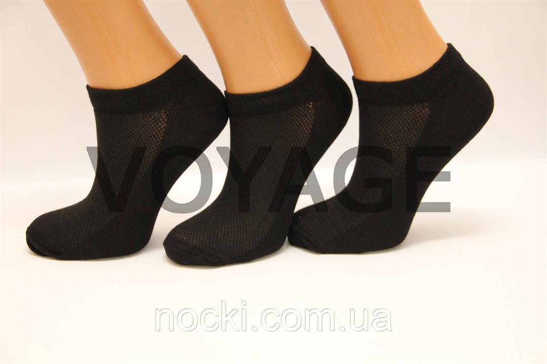 Жіночі короткі шкарпетки з бавовни в сіточку КЛ 36-40 чорний