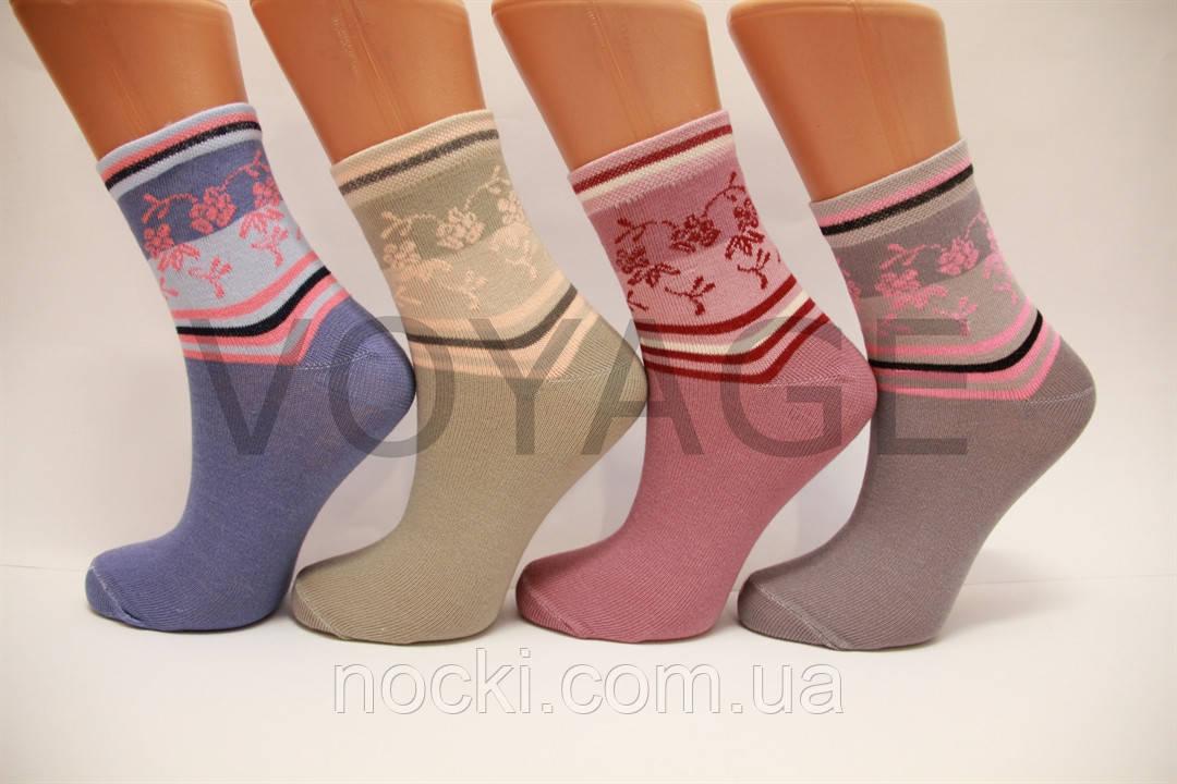 Жіночі шкарпетки високі стрейчеві з бавовни комп'ютерні STYLE LUXE КЛ kjs kjs 47