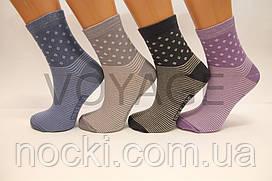 Жіночі шкарпетки високі стрейчеві з бавовни комп'ютерні STYLE LUXE КЛ kjs kjs 95