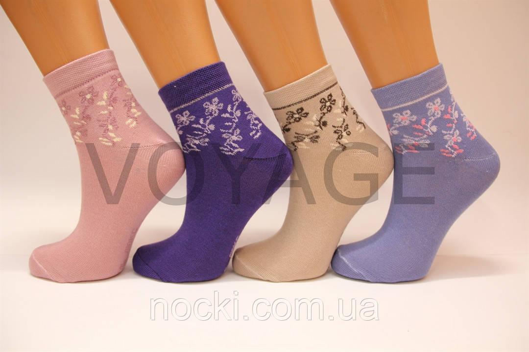 Женские носки средние стрейчевые с хлопка компютерные Style Luxe КЛ KJ   kj93
