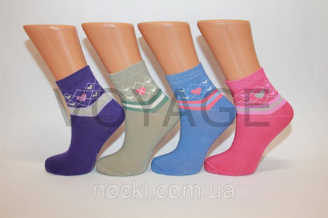 Женские носки средние стрейчевые с хлопка компютерные Style Luxe КЛ KJ   kj28