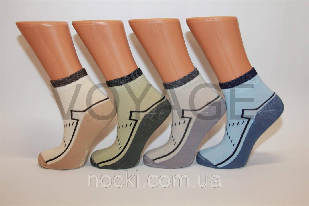 Жіночі шкарпетки середні стрейчеві з бавовни комп'ютерні Style Luxe КЛ KJ kj34