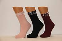 Женские носки высокие с камнями Y210,212 ЗОЛОТО 37-42  Y212-2 камни на резинке
