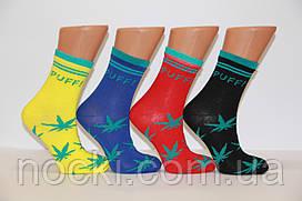 Жіночі шкарпетки високі стрейчеві з бавовни комп'ютерні STYLE LUXE КЛ kjv kjsv 140 яскраві ассорті