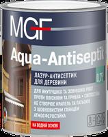 Лазур-антісептік MGF Agua-Antiseptik білий 0,75л (МГФ Аква-Антисептик) - лазурь-антисептик для дерева