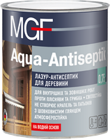Лазур-антісептік MGF Agua-Antiseptik білий 2,5л (МГФ Аква-Антисептик) - лазурь-антисептик для дерева
