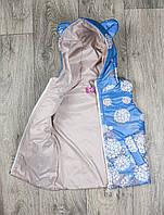 Жилетка детская модная на осенне-весенний сезон  размеры 80-110, фото 1