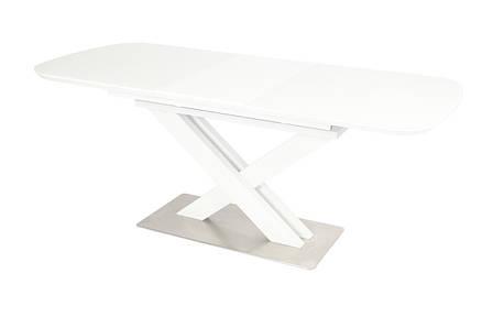 Стол ТМL-500 (Белый мат) 1400(+400)*800, фото 2
