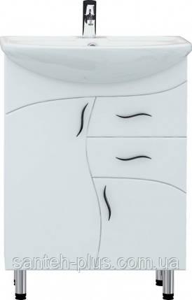 """Тумба для ванной комнаты серии """"Стандарт"""" Т7 с умывальником Изео-60, фото 2"""