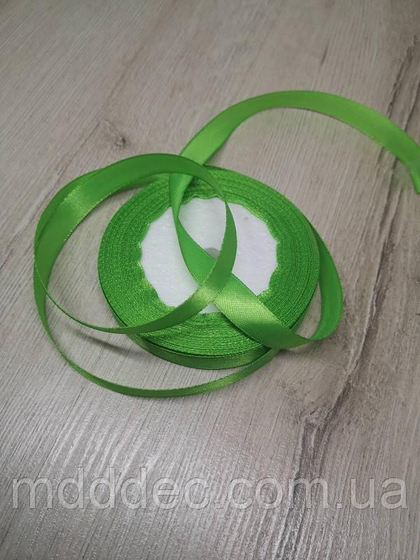 Лента атласная  зеленый цвет 1,25 см