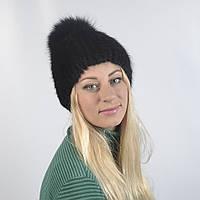 Женская шапка из натурального меха - Андатра, с пампоном (код 29-270)