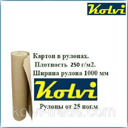 Картон пакувальний у рулонах