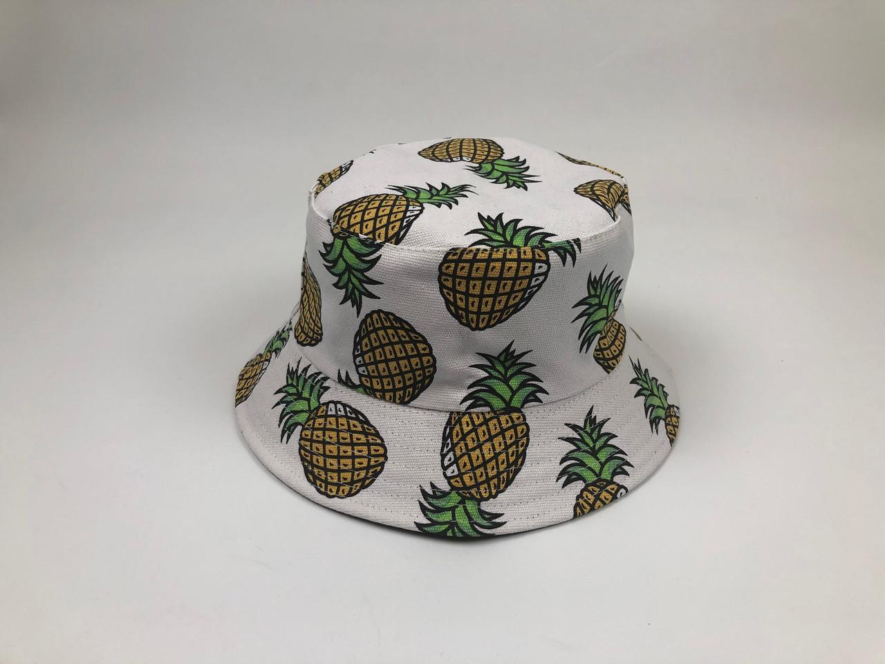 Панама Bucket Hat City-A с Ананасами Белая
