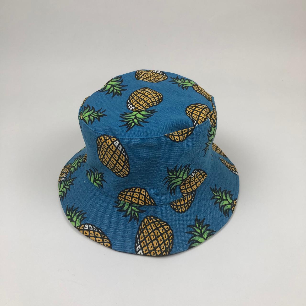 Панама Bucket Hat City-A с Ананасом Синяя