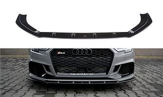 Сплиттер Audi RS3 8V Sedan тюнинг обвес губа юбка элерон (V1)