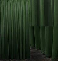 """Тюль фатин """"Грек сетка"""" Турция (3х2,5) однотонный, цвет темно зеленый. Код 620т 40-290, фото 1"""